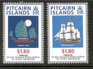 PITCAIRN ISLANDS 450-451 MINT HINGED CHINA 96 SHIPS