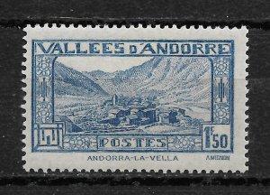 French Andorra 1932, Scott # 53, 1.50fr ,VF MNH**OG (FR-1)