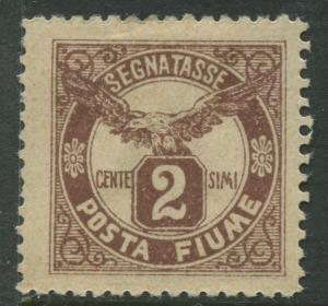 Fiume - Scott J13 - Postage Due -1919 - MLH - Single 2c Stamp