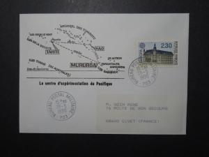 French Polynesia 1990 BPM 703 CEF Cacheted Cover to France - Z11084