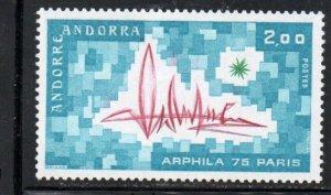 Andorra (Fr) Sc 241 1975 ARPHILA 75 stamp  mint NH