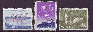 J24034 JLstamps 1961 lebanon set mh #c311-13 tourist