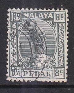 Malaya Perak 1938 Sc 89 8c gray Used