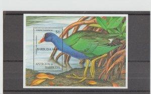 Barbuda  Scott#  1625  MNH  S/S  (1997 Purple Gallinule Overprinted)