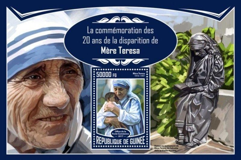Guinea - 2017 Mother Teresa - Stamp Souvenir Sheet - GU17316b