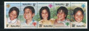 Nauru MNH Strip 205a International Year Of The Child 1979