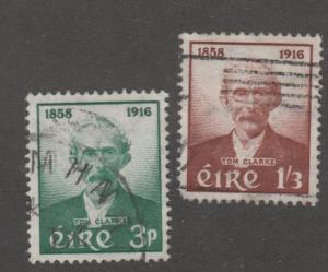 Ireland stamp, scott# 165-166, used, set of two,Thomas J. Clarke, patriot  #M998