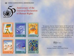 UN SC53 Human Rights Souvenir Card Mint