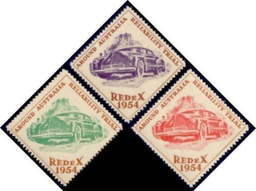 Australia 1954 Redex Car Trial Poster Stamps