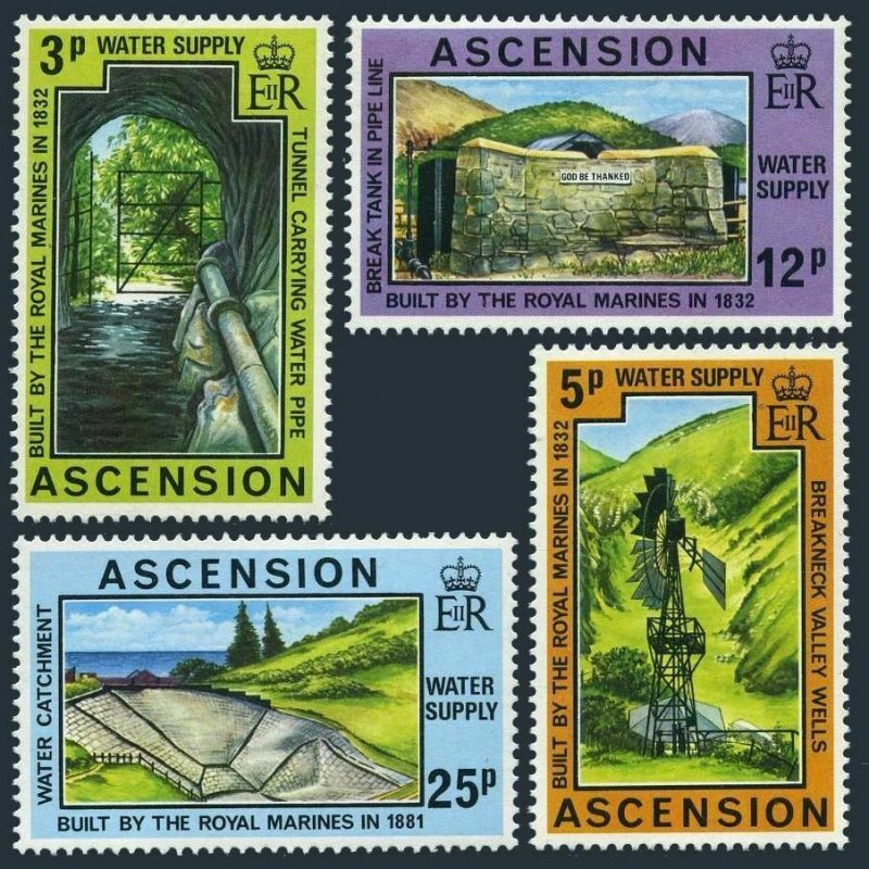 Ascension 221-224,MNH.Michel 221-224. Water supplies-Royal Marines,1977.