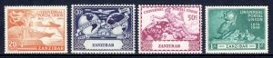 Zanzibar - Scott #226-229 - MNH - Minor gum glazing, gum bump #226 - SCV $6.25