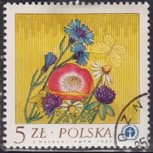 Poland 2556 Wild Flowers 1983
