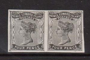 Prince Edward Island #9d VF Mint Imperforate Pair