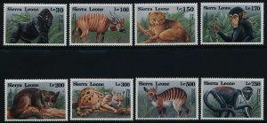 Sierra Leone MNH 1647-54 Animals Wildlife Fauna 1993 MUST SEE!!!!!