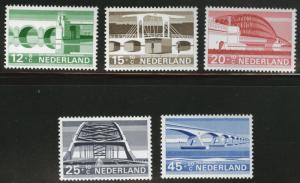 Netherlands Scott B434-438 MNH**1968 semi-postal Bridge set