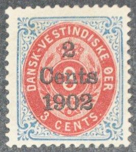 DYNAMITE Stamps: Danish West Indies Scott #27 – MINT