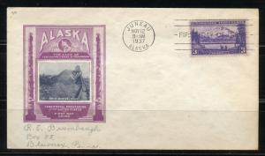 UNITED STATES 1937 ALASKA FIRST DAY COVER