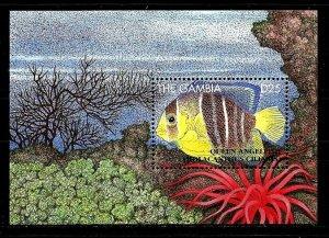 #8326 GAMBIA 1995 FAUNA FISHES S/SHEET YV BL 246 MNH