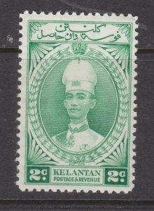 KELANTAN, MALAYSIA, 1937 Sultan, 2c. Green, lhm.
