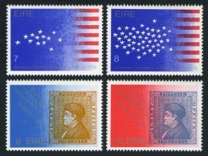 Ireland 389-392,392b,MNH.Michel 340-343,Bl.2. USA-200.Benjamin Franklin.1976.