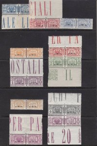 1927-37 Libya, Packs Post, N° 14/24 , MNH Excellent Quality'