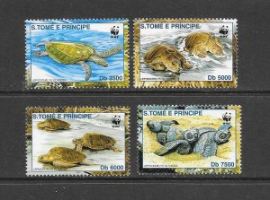 TURTLES - ST THOMAS & PRINCE ISLANDS #1400-3  MNH