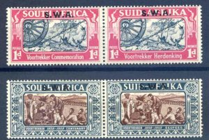 South Africa SG109/110 Mounted Mint Pairs