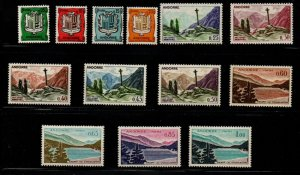 Andorra (Fr) Sc 143-153 1961 views long stamp set mint NH