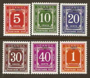 Uganda #J7-12 NH Postage Dues