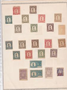 colombia stamps on album page  ref 13542