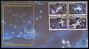 Namibia 808-811, FDC, Constellations