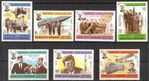 {AH009} ADEN / Hadhramaut 1967 Space J. Kennedy set MNH Mi.166/72 7,50 Eur.