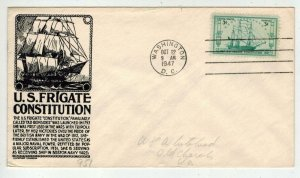 1947 OLD IRONSIDES US FRIGATE CONSTITUTION 951 D.C> FDC Anderson IN Black