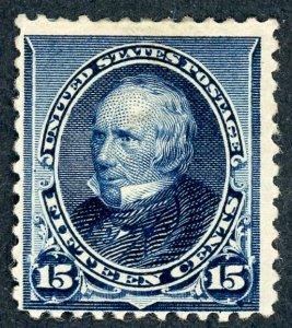 #227 – 1890 15c Henry Clay, indigo. MLH. OG.