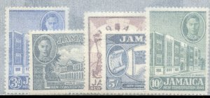 Jamaica, Scott #131-135, Mint, Never Hinged