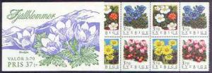 Booklet - Sweden 1995 Mountain Flowers 37k booklet comple...