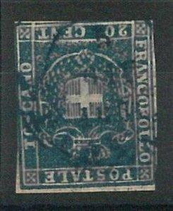 55189 - ANTICHI STATI: TOSCANA Tuscany - Sassone 20 - USATO used annullo FIRENZE
