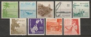 Ecuador 1955 Sc 596-604 set MH*