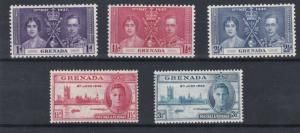 GRENADA  1937 - 46   CORONATION & VICTORY SETS  M H