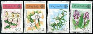 HERRICKSTAMP SEYCHELLES Sc.# 696-99 Orchids Flowers Stamps