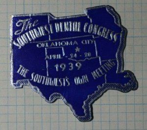 Southwest Dental Congress Oklahoma City 1939 Company Brand Ad Poster Stamp