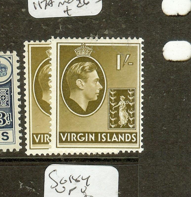 VIRGIN ISLANDS  (P0508B) KGVI 1/-  SG117-117A MOG