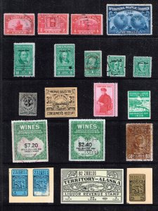 US STAMP BOB REVENUE STAMP COLLECTION LOT