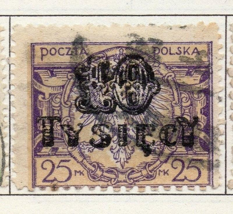 Poland 1921-1924 Early Issue Fine Used 10T. Surcharged 190775