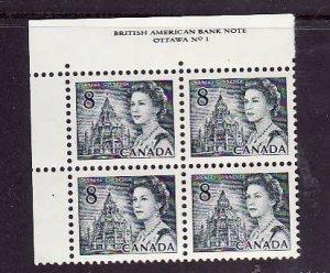 Canada-Sc#544-Unused NH 8c QEII Centennial-UL plate block #1-Dex gum-1971-