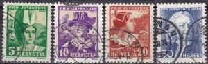 Switzerland #B69-72  F-VF Used  CV $22.35 (Z6075)