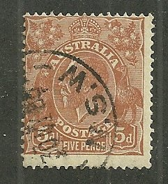 1932 Australia 120  5d King george used.