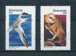 [103951] Grenada 1993 Birds vögel oiseaux tropic bird owl Perf 12¾ : 11¼ MNH