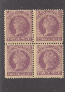 PRINCE EDWARD ISLAND # 16 MNH BLOCK OF 4 12cts (Some Perf Sep) CAT VALUE $40+