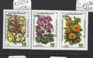 SYRIA  (P2709B)  SG 1757A   FLOWERS   MNH
